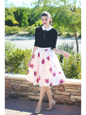 Beautiful Black Color Fancy Western Top & Skirt