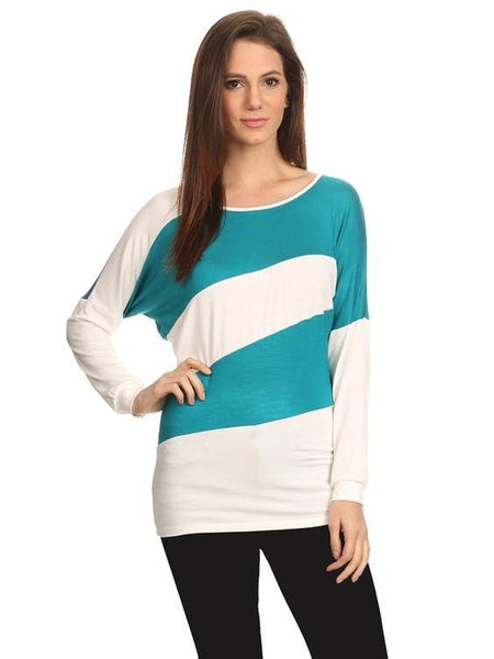 Women's Striped Long Sleeve Shirt Summer