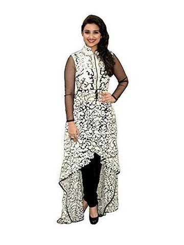 Exotic Net Printed Off white Kurti