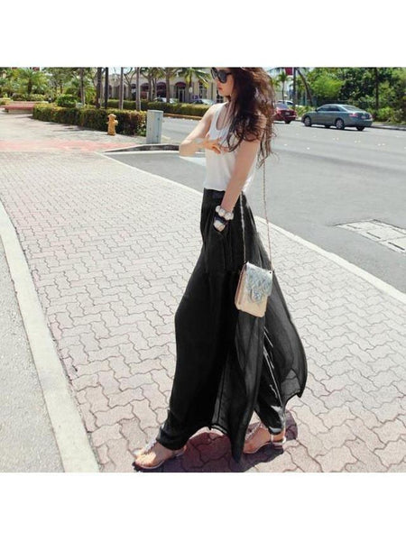 Long Loose Culottes Trouser