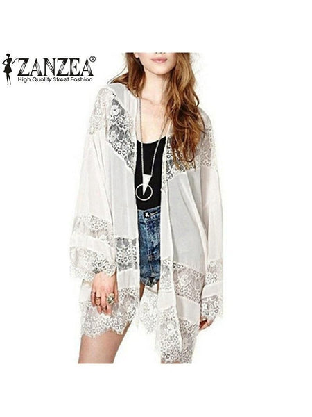 Cardigan Lace Chiffon Top
