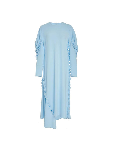 Cotton Blue Shift Dress
