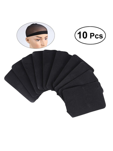 10 Pack Nylon Wig Caps Skin Color Stretchy Close End Stocking Wig Caps