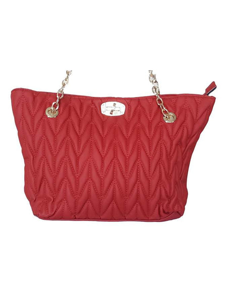 Red artificial leather bag - PurpleTulsi.com