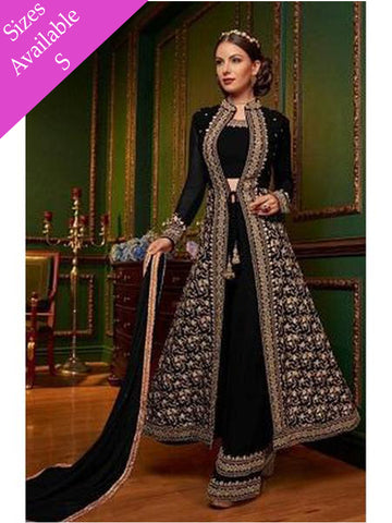Designer & Beautiful Black Color Straight Cut Suit