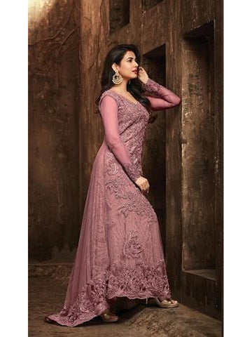 Designer and Beautiful Pink Color Georgette With Embroidery Work Anarkali Suit