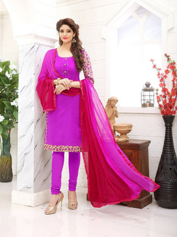 Designer and Beautiful Pink Color Straight Cut Suit