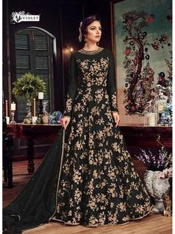 Designer & Beautiful Black Color Anarkali Suit