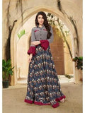 Designer Multi Color Embroider & Print Work Anarkali Kurti Gowns