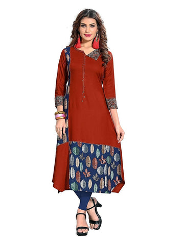Designer Light Brown Color Kurti with Bottom