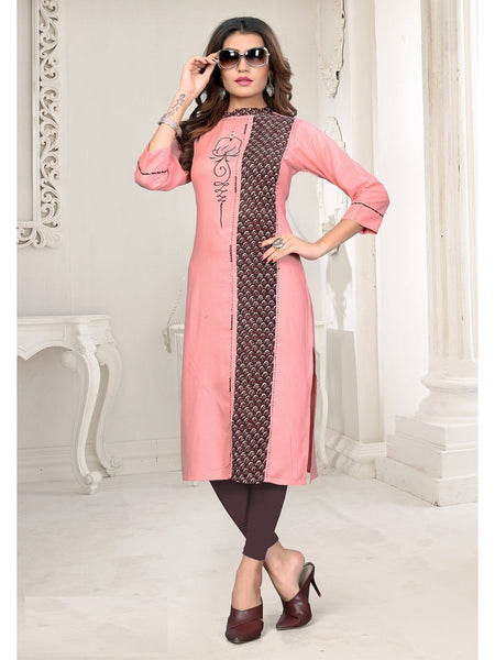Designer and Beautiful Peach Color Kurti