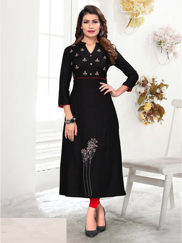 Designer and Beautiful Black Color Kurti