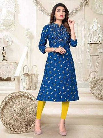 Designer and Beautiful Blue Color Kurti