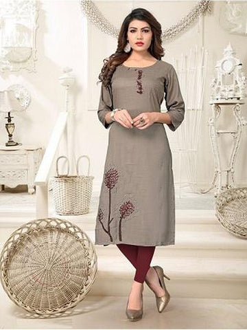 Designer and Beautiful Grey Color Kurti