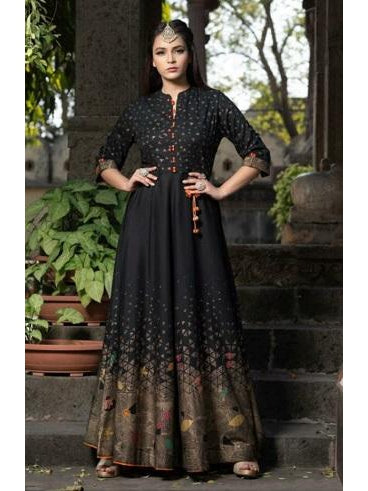 Designer and Beautiful Black Color Anarkali Kurti
