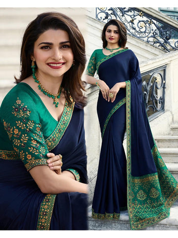 Designer and Beautiful Dark Green Banglori Silk Saree