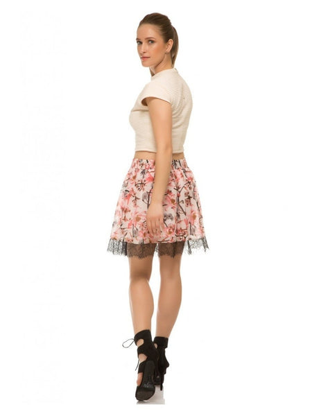 Floral Printed Mini Skirt