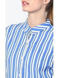 Boby printed Shirt in blue stripes