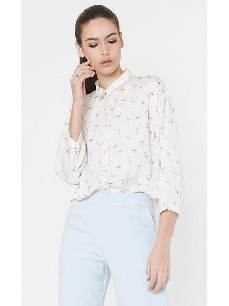 Flamingo Silk Shirt