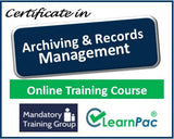 Archiving and Records Management - Online Course & Certification - The Mandatory Training Group UK -