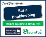Basic Bookkeeping - Online Train the Trainer Course & Trainer Materials - The Mandatory Training Group UK -