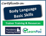 Body Language Basic Skills - Online Train the Trainer Course & Trainer Materials - The Mandatory Training Group UK -