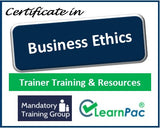 Business Ethics - Online Train the Trainer Course & Trainer Materials - The Mandatory Training Group UK -