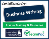 Business Writing - Online Train the Trainer Course & Trainer Materials - The Mandatory Training Group UK -