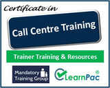 Call Centre Training - Online Train the Trainer Course & Trainer Materials - The Mandatory Training Group UK -