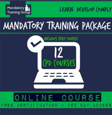 Candidate Mandatory Training - 12 Online CPD Accredited Courses - Skills for Health Aligned E-Learning for Health & Social Care - The Mandatory Training Group UK -