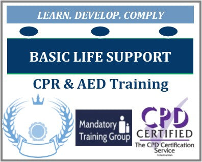 Classroom Basic Life Support Training Course + CPR & AED - CSTF Aligned - Level 2 Practical Course + Assessment & Certification - The Mandatory Training Group UK -