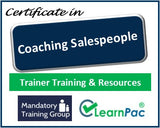 Coaching Salespeople - Online Train the Trainer Course & Trainer Materials - The Mandatory Training Group UK -