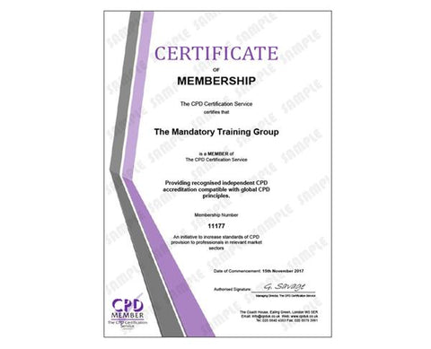 Continuing Professional Development - Online CPD Training Courses - Online & E-Learning Courses in the UK - The Mandatory Training Group UK -