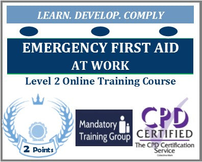 Emergency First Aid at Work Training - Level 2 Online CPD Accredited Course - The Mandatory Training Group UK -
