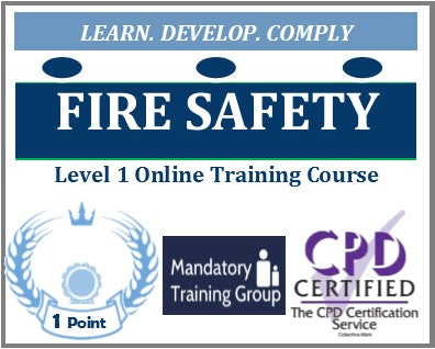 Fire Safety Training for Health & Social Care - Level 1 Online CPD Accredited Course - The Mandatory Training Group UK -