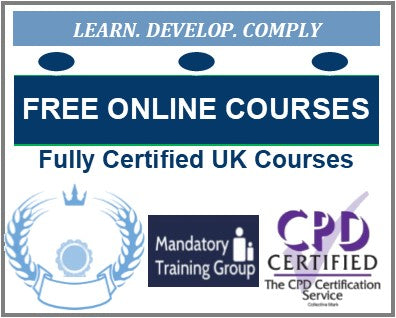 Free Online Care Courses with Certificates - Adult Social Care ELearning Courses with Certificates - The Mandatory Training Group UK -