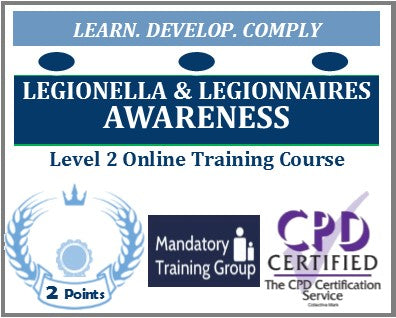 Legionella & Legionnaires Awareness Training - Level 2 Online CPD Accredited Course - The Mandatory Training Group UK -