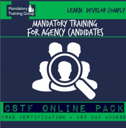 Mandatory Training for Agency Workers & Locum Workers - Skills for Health CSTF Aligned E-Learning Courses - The Mandatory Training Group UK -