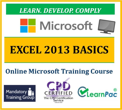 Mastering Microsoft Office Excel 2013 Basics - Online CPD Training Course & Certification - The Mandatory Training Group UK -