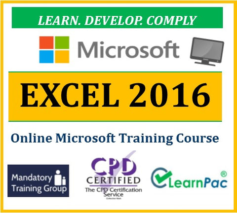Microsoft Excel 2016 - Online CPD Training Course & Certification - The Mandatory Training Group UK -