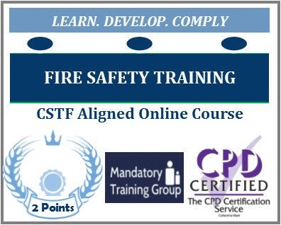 Online Fire Safety Training Course - Health & Social Care - UK CSTF Aligned - Skills for Health UK CSTF Aligned E-Learning Course - The Mandatory Training Group UK -
