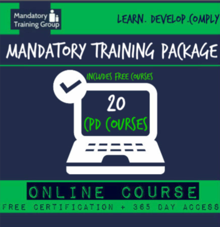 Online Mandatory Training Courses  - 20 Online CPD Accredited Courses - Skills for Health Aligned E-Learning Courses - The Mandatory Training Group UK -