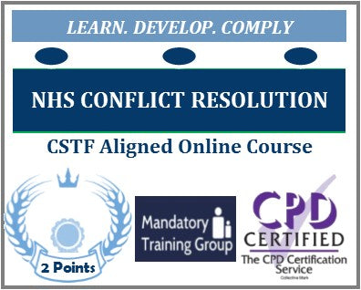 Online NHS Conflict Resolution Training Course - UK CSTF Aligned E-Learning Course - The Mandatory Training Group UK -