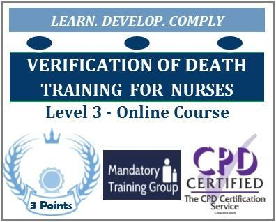 Online Verification of Death Training for Nurses – Online verification of expected death training - verification of death online training – The Mandatory Training Group UK -