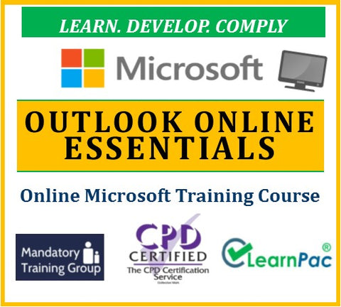 Outlook Online Essentials 2017 - Online CPD Training Course & Certification - The Mandatory Training Group UK -