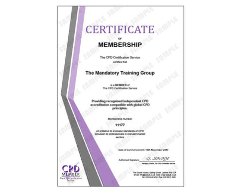 Statutory & Mandatory Training Courses in Havering, Greater London - CPD Certification Service - The Mandatory Training Group UK -
