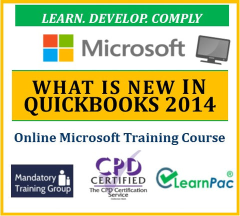 What is New in QuickBooks 2014 - Online CPD Training Course & Certification - The Mandatory Training Group UK -