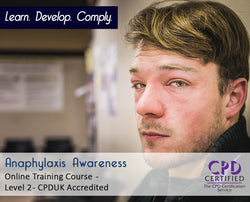 Anaphylaxis Awareness - Online Training Course - The Mandatory Training Group UK -