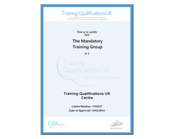 Award in Education and Training - Level 3 TQUK - Online Train the Trainer Qualification - The Mandatory Training Group UK -
