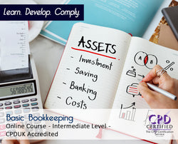 Basic Bookkeeping - Online Training Course - The Mandatory Training Group UK -